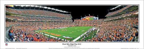 """First Mile High Win 2012"" Denver Broncos Panoramic Poster"