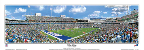 """28 Yard Line"" Buffalo Bills Panoramic Poster"
