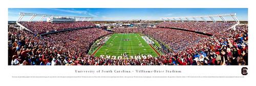 """""""Endzone"""" South Carolina Gamecocks at Williams Brice Stadium Panorama"""