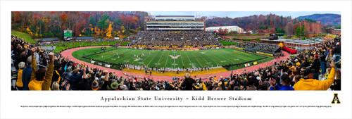 Appalachain State Mountaineers at Kidd Brewer Stadium Panorama Poster