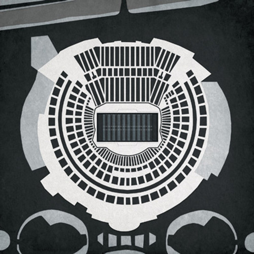 Oakland Coliseum - Oakland Raiders City Print