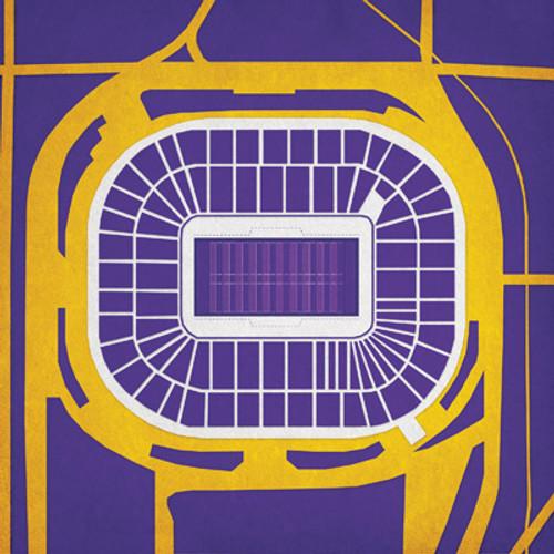 Metrodome - Minnesota Vikings City Print