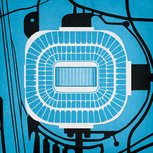 Bank of America Stadium - Carolina Panthers City Print