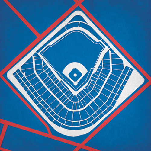 Wrigley Field - Chicago Cubs City Print
