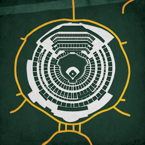 Oakland Coliseum - Oakland Athletics City Print