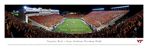Virginia Tech Hokies at Lane Stadium Panorama Poster