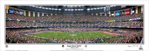 """""""Super Bowl XXLVII"""" Baltimore Ravens Panoramic Poster"""