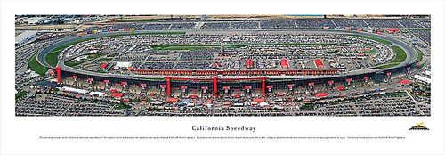 California Speedway Panoramic Poster