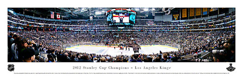 """""""2012 Stanley Cup Champions"""" Los Angeles Kings Panorama Poster"""