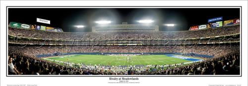 """Rivalry at the Meadowlands"" Jets vs. Giants Panoramic Poster"