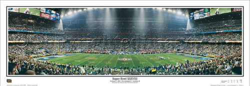 """Super Bowl XXXVIII"" New England Patriots Panoramic Poster"