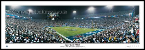 """Super Bowl XXXIX"" New England Patriots Panoramic Poster"