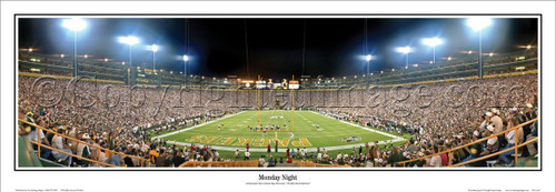"""Monday Night"" Green Bay Packers Panoramic Poster"