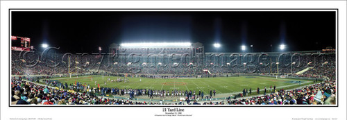 """21 Yard Line"" old Soldier Field Panoramic Poster"