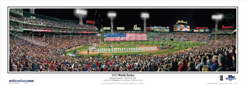 """""""2013 World Series"""" Boston Red Sox Panoramic Framed Poster"""