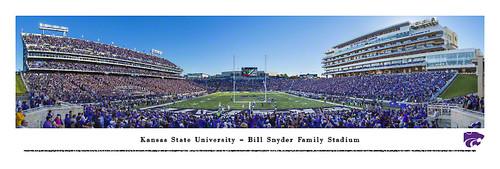 Kansas State Wildcats at Bill Snyder Stadium Panorama Poster