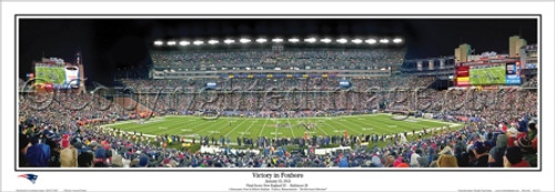 """""""Victory in Foxboro"""" 2012 AFC Championship Game Panoramic Poster"""