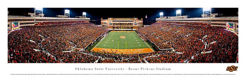 Sooners vs. Cowboys at Boone Pickens Stadium Panoramic Poster