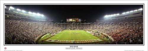"""Bowden Bowl II"" Florida State vs. Clemson Panoramic Poster"