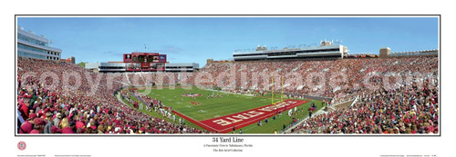 """34 Yard Line at Doak Campbell Stadium"" Panoramic Poster"