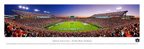Auburn Tigers at Jordan Hare Stadium Panoramic Poster