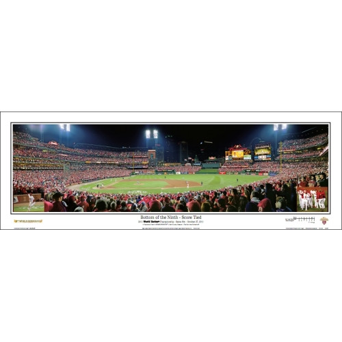"""2011 World Series"" St. Louis Cardinals Panoramic Framed Poster"