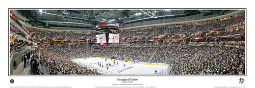Penguins Inaugural Game at the Consol Energy Center Poster