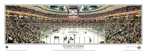 """""""2011 Stanley Cup Champions"""" Boston Bruins Panoramic Poster"""
