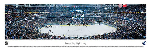 Tampa Bay Lightning at St. Pete Times Forum Panoramic Poster