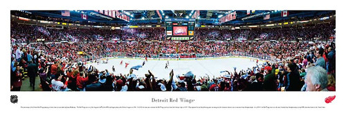 Detroit Red Wings at Joe Louis Arena Panoarmic Posteer