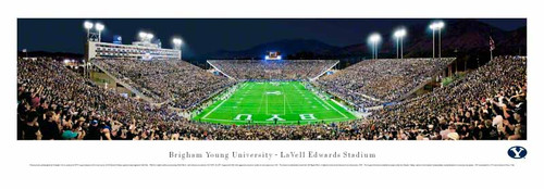BYU Cougars at LaVell Edwards Stadium Panoramic Poster