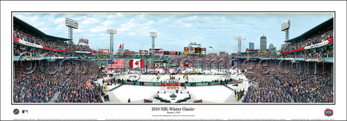 """""""2010 NHL Winter Classic"""" Fenway Park Panoramic Poster"""