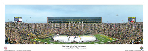 """""""The Big Chill at the Big House"""" Michigan Panoramic Poster"""
