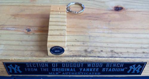 Yankee Stadium Dugout Bench Slim Keyring