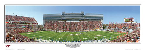 """Virginia Tech Hokies"" Lane Stadium Panoramic Poster"