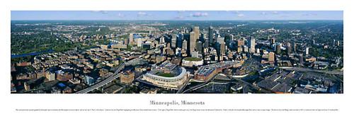 Target Field, Minneapolis Skyline Panorama Poster