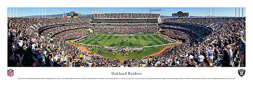 Oakland Raiders at O.com Coliseum Panorama Poster