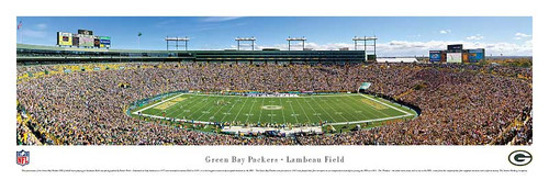 Green Bay Packers 50 Yard Line at Lambeau Field Panorama Poster