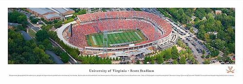 Virginia Cavaliers At Scott Stadium Aerial Panorama Poster