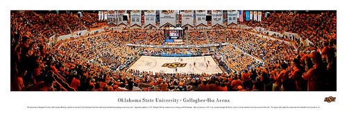 Oklahoma State  Cowboys At Gallagher Iba Arena Panorama Poster