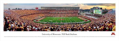 Minnesota Golden Gophers At TCF Bank Stadium Panorama Poster