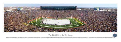 The Big Chill Hockey Game at Michigan Stadium Panorama Poster