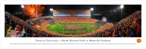 """Clemson vs Notre Dame"" Memorial Stadium Panorama Poster"