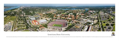 LSU Tigers At Tiger Stadium Aerial Panorama Poster