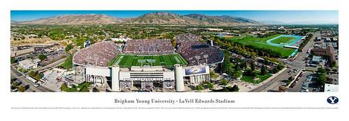 BYU Cougars At Lavell Edwards Stadium Panorama Poster