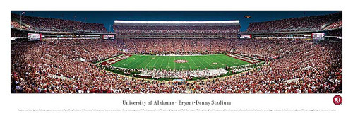 50 Yard Crimson Tide At Bryant Denny Stadium Panorama