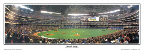 """Seventh Inning"" Toronto Blue Jays Panoramic Framed Poster"