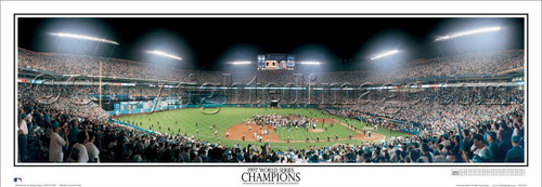 """1997 World Series"" Florida Marlins Panoramic Framed Poster"