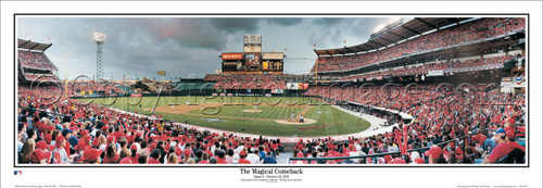 """The Magical Comback"" Los Angeles Angels Panoramic Framed Poster"