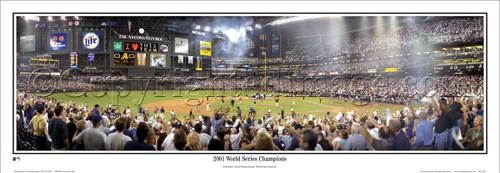 """2001 World Series"" Arizona Diamondbacks Panoramic Framed Poster"